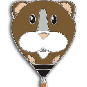 Guinea Pigg hot air balloon pin badge