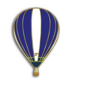 The squirrel hot air balloon pin badge G-ORNH