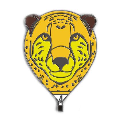 Special Shape Cheetah Balloon Pin