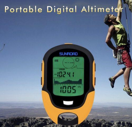 Portable digital altimeter