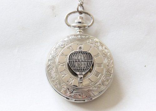 Hot air balloon pocket watch